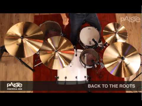 PAISTE Cymbal Series Comparison Video