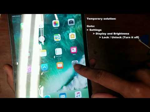 iPad mini4 sleep/wake problem and solution