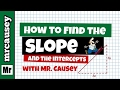 Algebra - How to Find Slope, Y-Intercept and Graph a Line