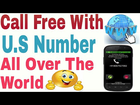 How To Make Free Call With U.S Number All Over The World Free Through Internet |Hindi/urdu