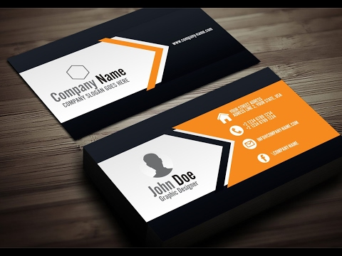 How to create a creative business card in Corel DRAW Corel DRAW X6 Tutorial