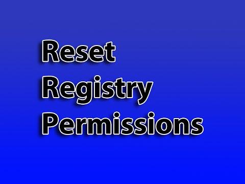 Reset Registry Permissions