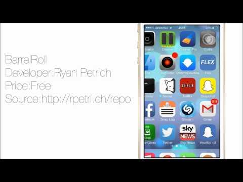 BarrelRoll: Rotate Your iPhone Screen iOS 7 Cydia tweak