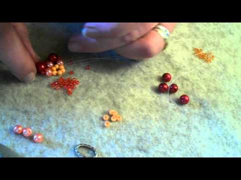 How to make a beaded flower pendant tutorial