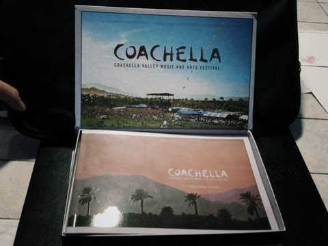 2013 Coachella tickets unboxing video