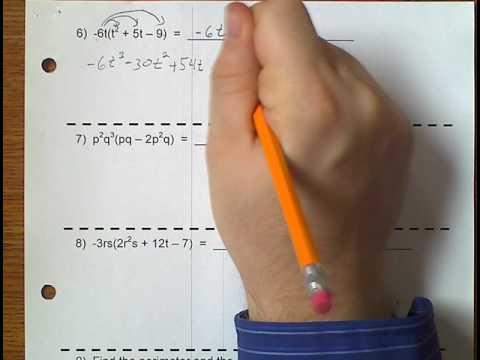 Algebra 1 (Topic 4-2) Multiplying Monomials