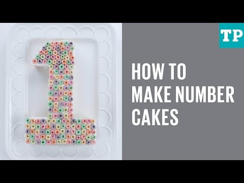 How to make number cakes