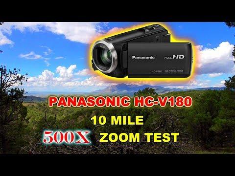 Panasonic HC-V180 10 mile Zoom Test