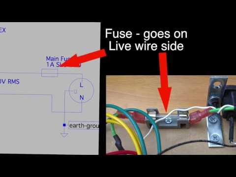 How Tube Amps Work: Wiring up the fuse and primary on a Hammond 270EX power transformer