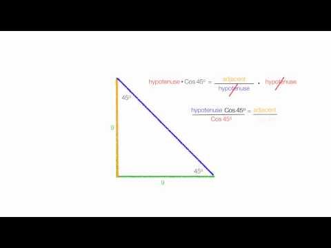 How To Calculate the Length of A Diagonal Line of Square Using Trigonometry