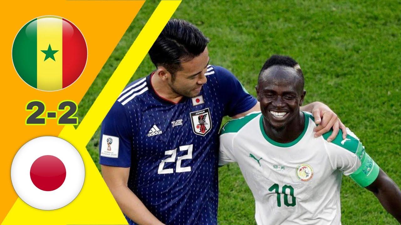 مباراة مجنونة/ سنيغال ~ اليابان 2-2 كأس العالم 2018 وجنون رؤوف خليف جودة عالية 1080i
