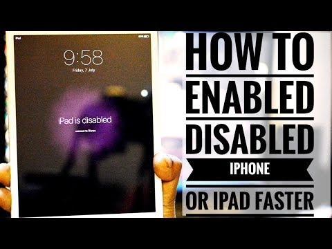 HOW to Enable 🤓 disabled🙄 iPad and iPhone quickly