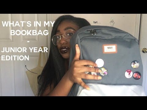 what's in my bookbag // junior year 2017 | VANS