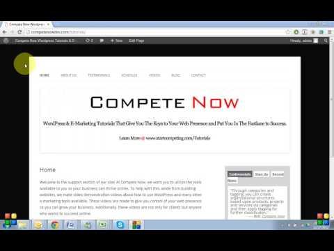 Custom WordPress Tutorials Demo/Description