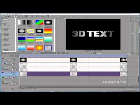 3D Text Intro in Sony Vegas (Tutorial)
