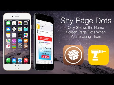 Shy Page Dots: Only Shows the Home Screen Page Dots When You're Using Them