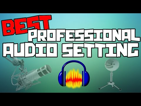Best Professional Audio Settings For Commentaries!! (Using Audacity)