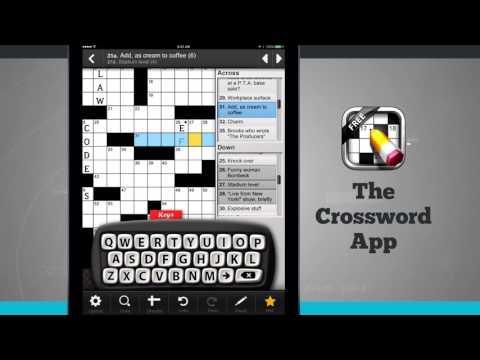 The Crossword App iPad App Demo