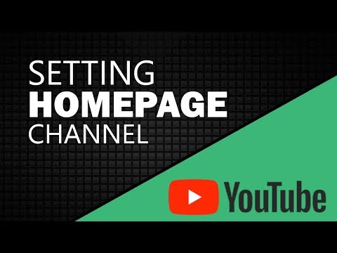 Setting your Youtube Homepage