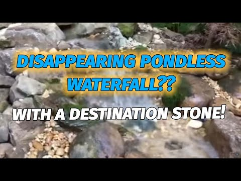 Barbara Mandrell's Disappearing Backyard Pond less Waterfall renovation in Brentwood, Tn