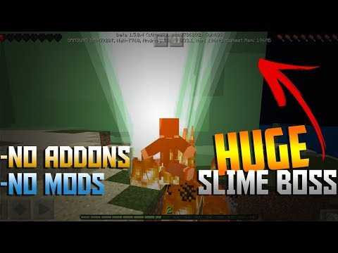 HOW TO MAKE A SLIME BOSS - Minecraft PE Tutorial