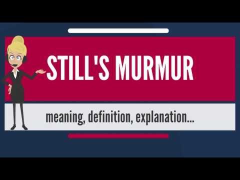 What is STILL'S MURMUR? What does STILL'S MURMUR mean? STILL'S MURMUR meaning & explanation