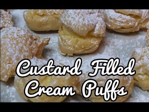 Custard Filled Cream Puffs (Shu Cream)