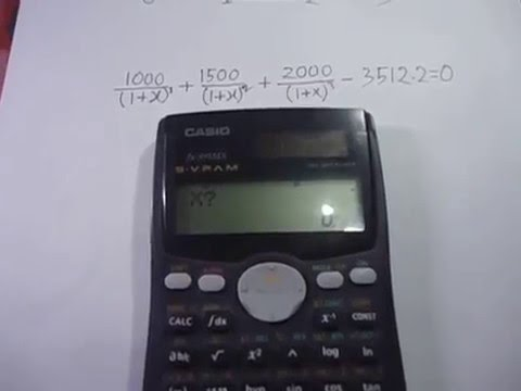 Internal Rate of Return (IRR) Calculation Using Casio MS Scientific Calculator
