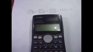 Internal Rate Of Return Irr Calculation Using Casio Ms Scientific Cal