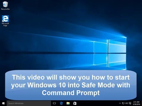 How to Start Windows 10 into Safe Mode with Command Prompt