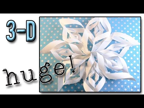How to Make a 3D Paper SnowFlake ❄ Snow Series