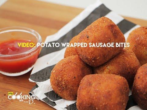 Potato Wrapped Sausage Bites Recipe