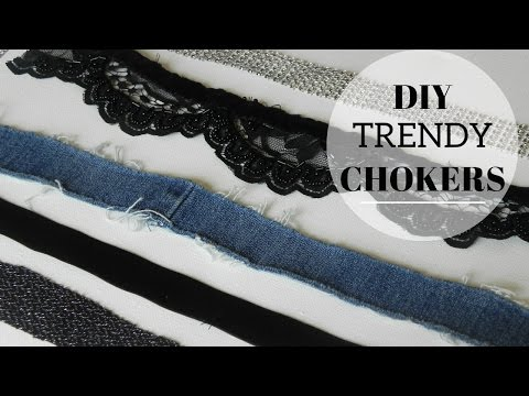 DIY TRENDY CHOKERS | DENIM CHOKER | LACE CHOKER | VELVET CHOCKER | KELSLEYNICOLE
