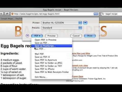 Mac OS X: How to Print as a PDF