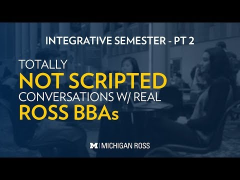 Michigan Ross BBA Students Discuss Teamwork During The Integrative Semester at Michigan Ross