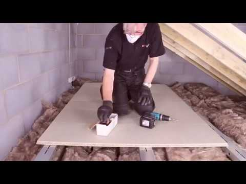 How to add an attic floor above attic insulation
