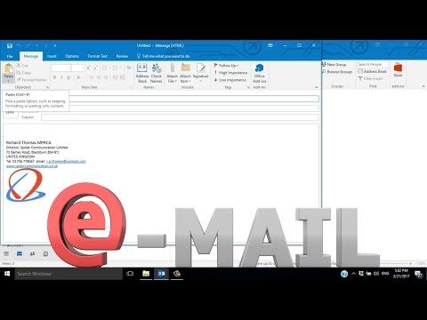 ✏️Microsoft Outlook 2016 Create a Signature🗒