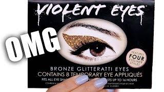 glitter eyeshadow stickers omg