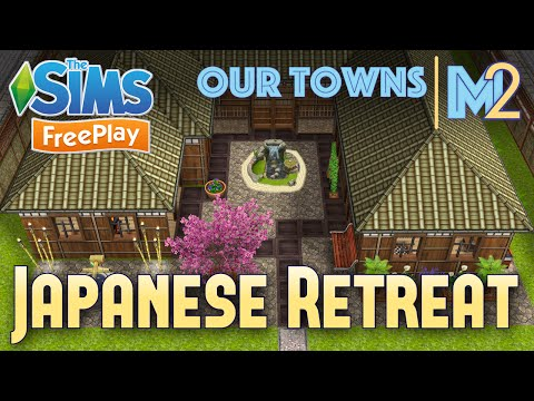 Sims FreePlay - Japanese Retreat (Original House Design)