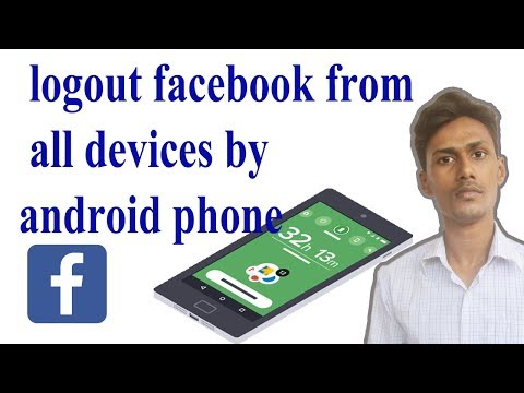 how to logout facebook from all devices by android phone