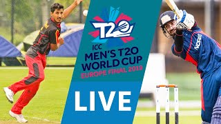 LIVE CRICKET - ICC Men's T20 World Cup Europe Final 2019 - Germany vs Norway. Match start