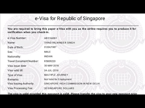 How to check singapore visa status online | check singapore visa status online | singapore s pass