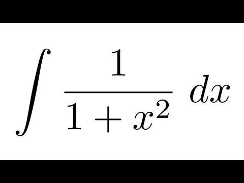 Integral of 1/(1+x^2) (substitution)