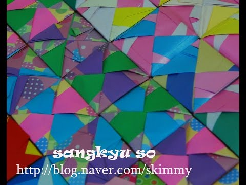 How to make an Origami Mosaic ttakji 15