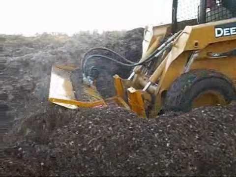 Horse Manure John Deere 332 Windrow Composting Organic Soil Amendments Recycle Landfill Diversion