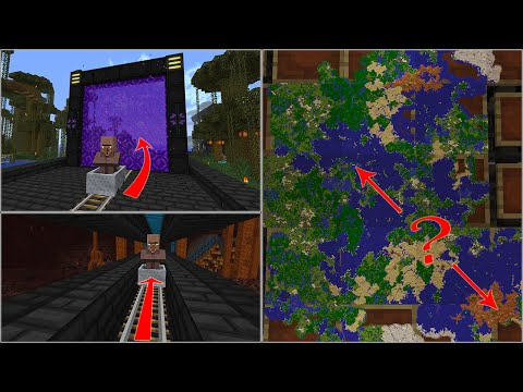 [MINECRAFT] how to move villagers through the nether (survival 1.10, 1.11, 1.12)