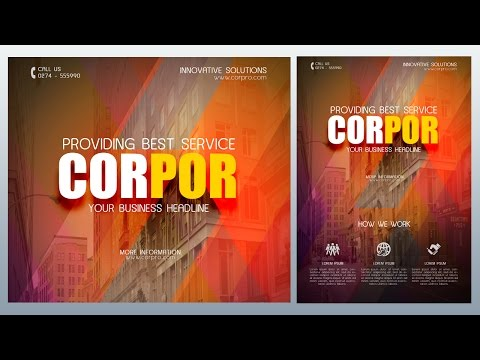Create a Creative Corporate Flyer Photoshop Tutorial