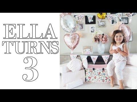 ELLA'S 3RD BIRTHDAY VLOG | OPENING LOL SURPRISE DOLLS & A NEW BIKE!