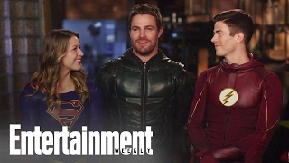 CW Superheroes Crossover: Behind The Scenes | Cover Shoot | Entertainment Weekly