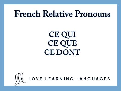 Xxx Mp4 French Relative Pronouns Ce Que Ce Qui Ce Dont 3gp Sex